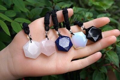 Hexagonal Gemstone Pendants