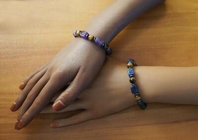 Lava and Gemstones Bracelets