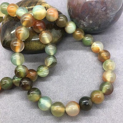 Multi Color Agate Bracelets