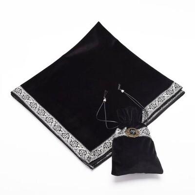 Black Tarot Bag with table cloth