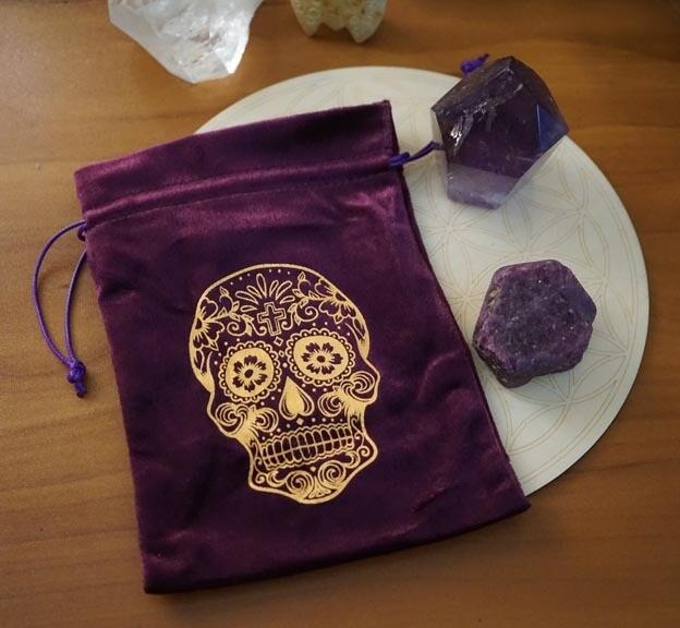 Sugar Skull Tarot Bag