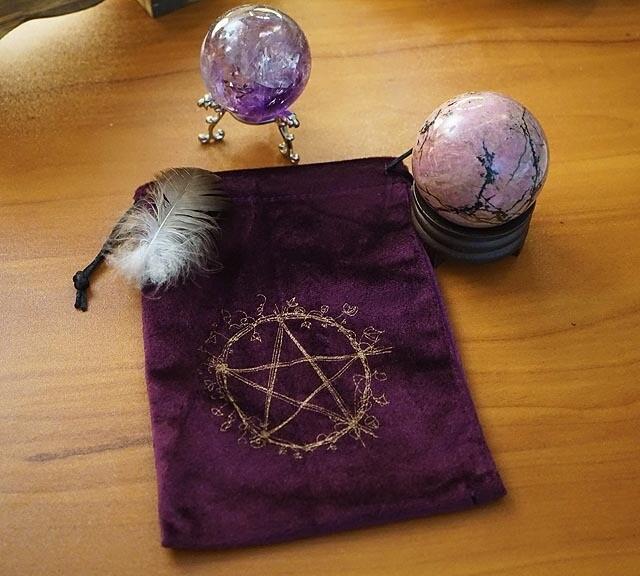 Pentacle Velveteen Tarot Bag