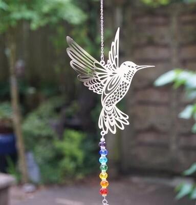 Hummingbird Chakra Suncatcher