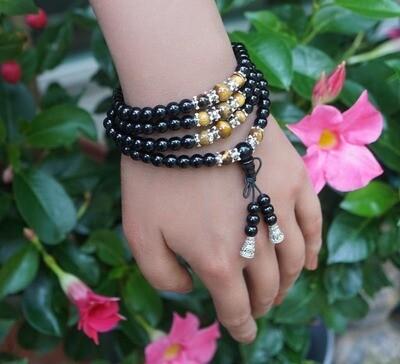 Obsidian and Tiger Eye Prayer Beads