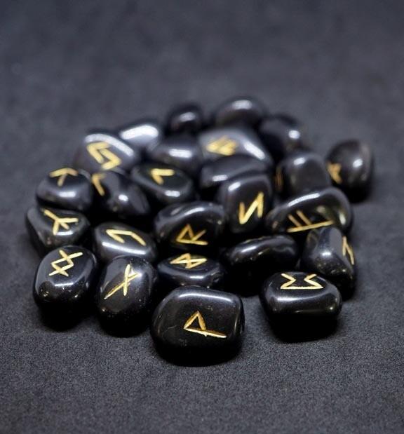 Black Tourmaline Runes