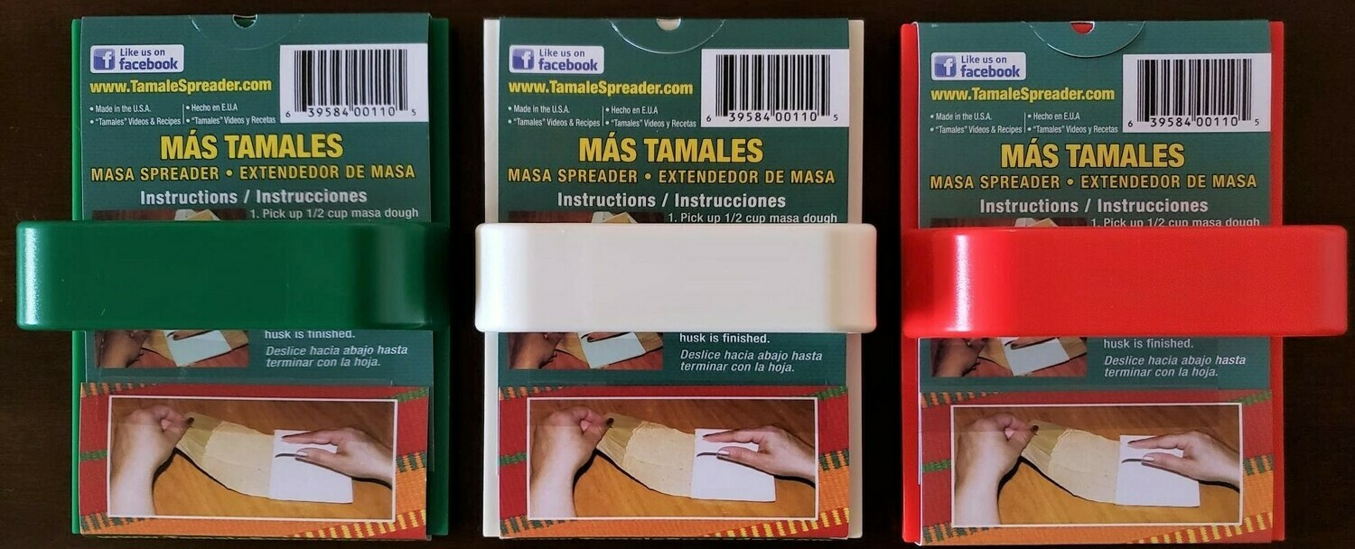 Get 20% off Masa Spreader for Tamales. Package of 3