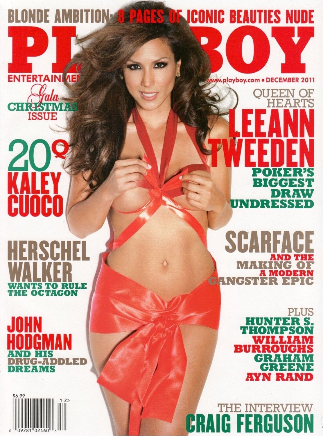 Playboy Magazine Back Issue December 2011