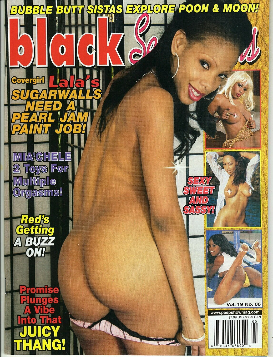 BLACK SEXATIONS V19N8 MAGAZINE 2007 JADA FIRE