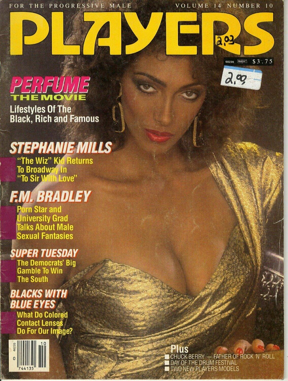 Players Busty Adult Magazine Stephanie Mills Vol.14 #10 March 1988