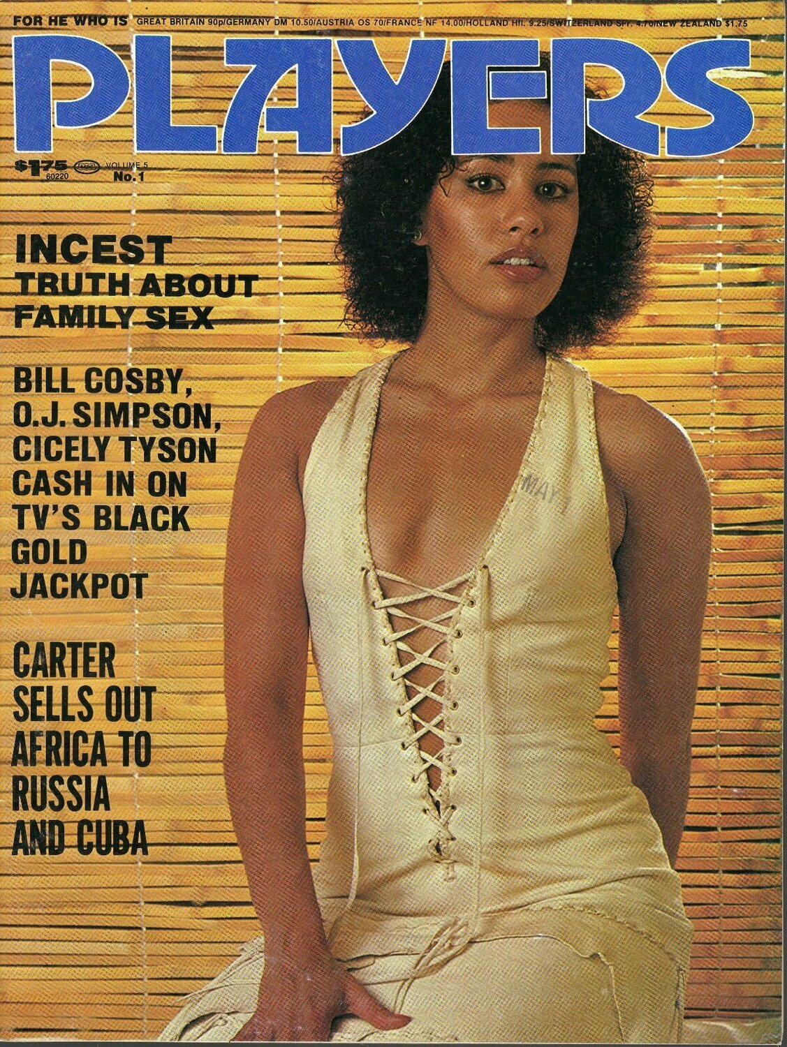 Vintage PLAYERS V5N1 JUNE 1978 LIANNE ANDREA JUDIT BEAUTIFUL BLACK WOMEN