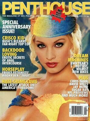 Vintage Penthouse Magazine Back Issue September 2001