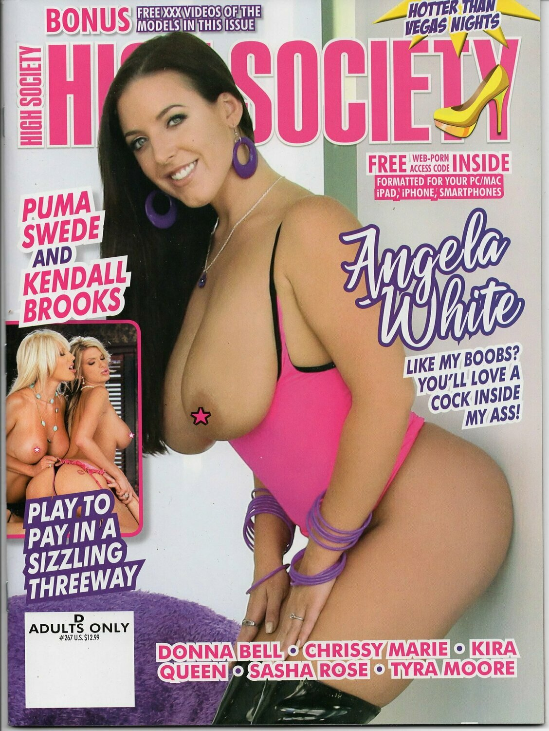 High Society Adult Magazine #268 2018 Angela White