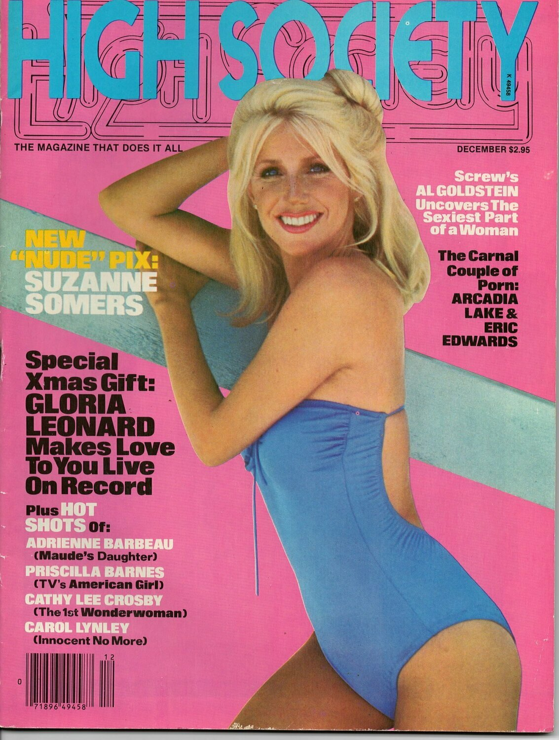High Society Adult Magazine Back Issue December 1979