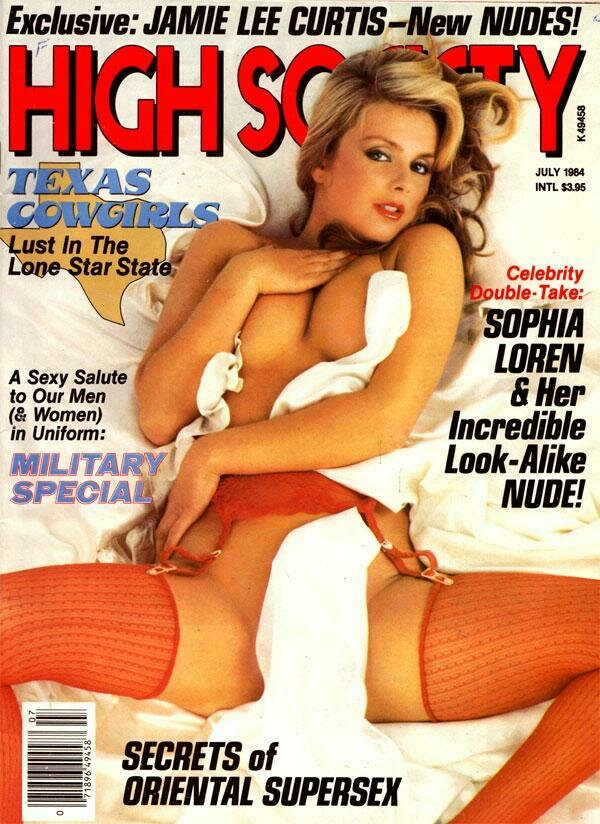 High Society Adult Magazine Back Issue July 1984