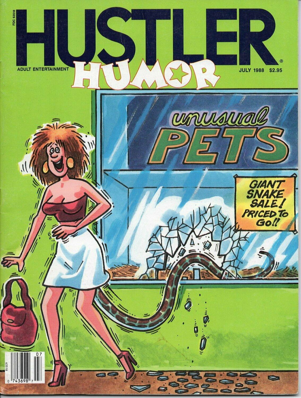 Hustler Humor Magazine July 1988