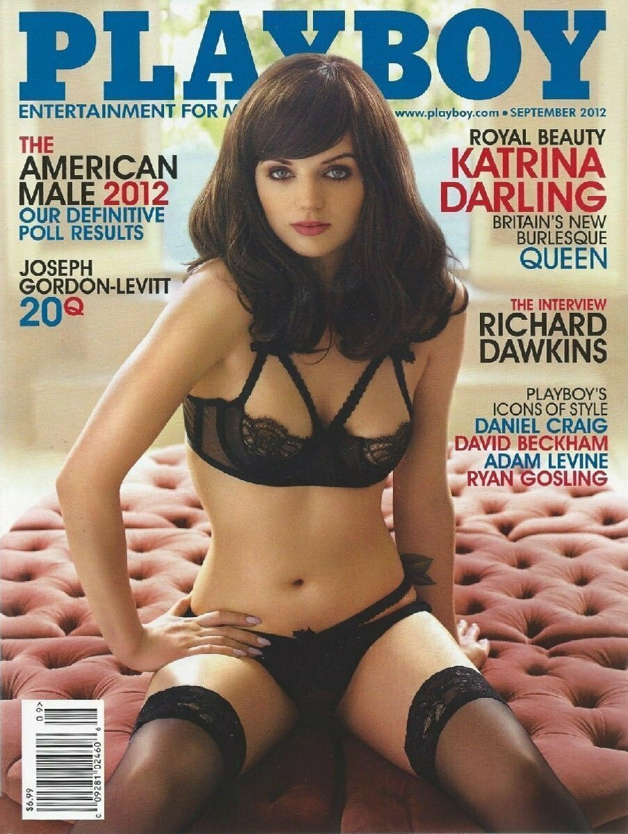 Playboy Men's Magazine Katring Darling September 2012