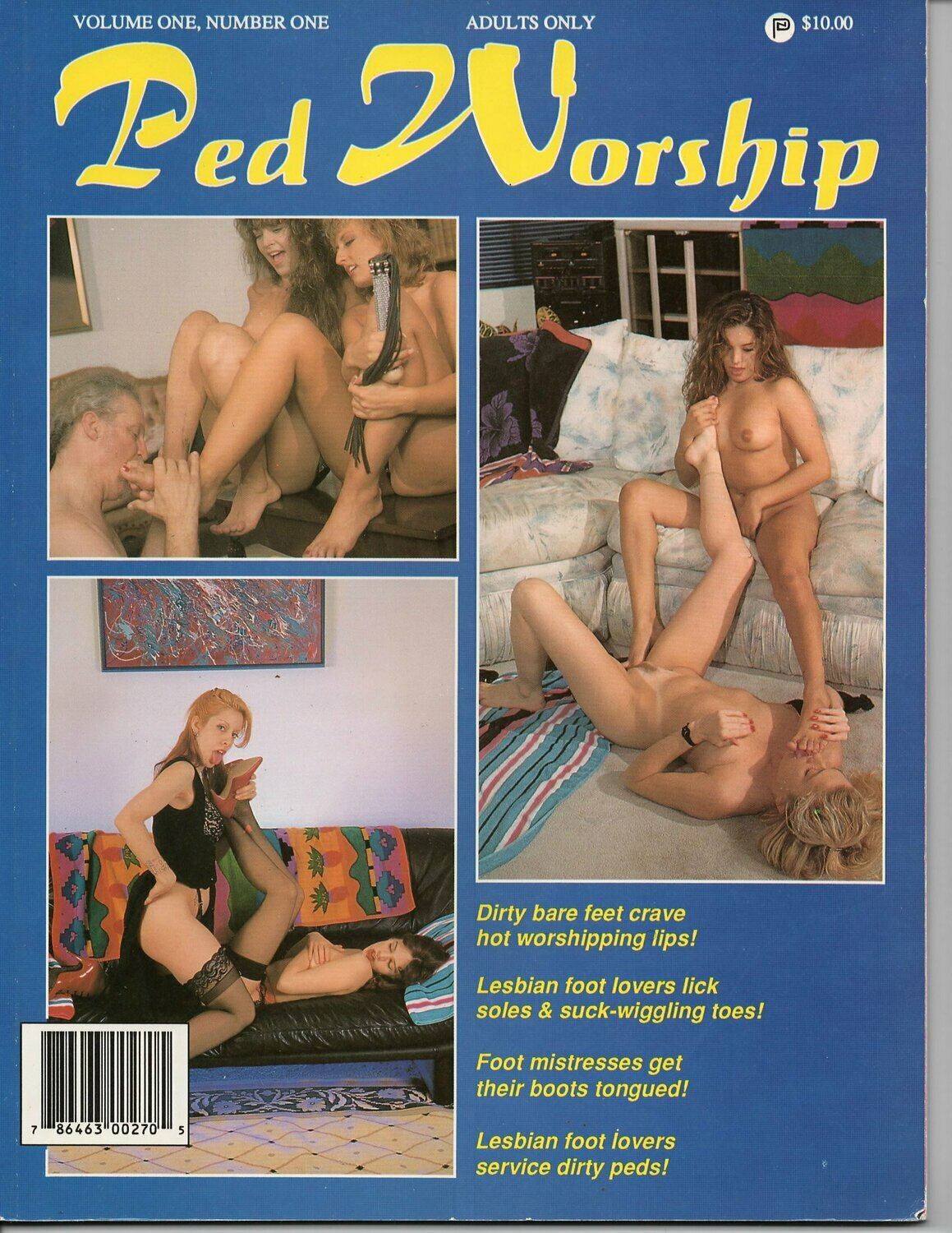 PED WORSHIP V1N1 1995 DIRTY LESBIAN FOOT LOVERS
