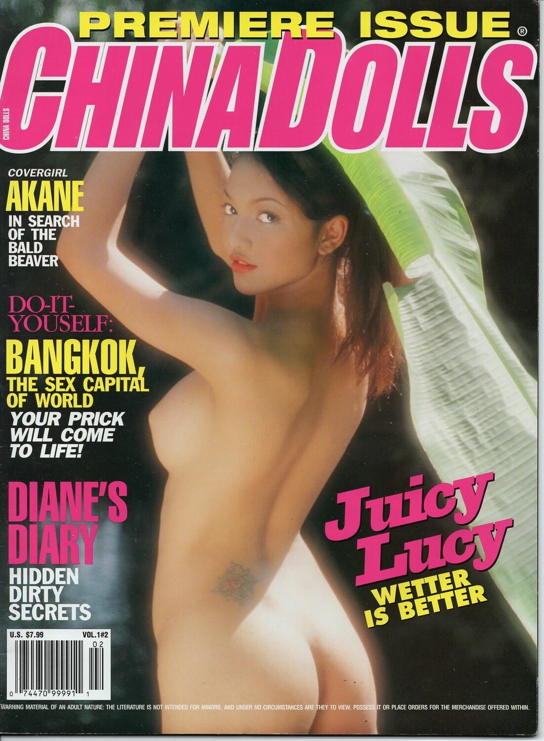 China Dolls Premiere Issue 2001 Asian Girls Adult Magazine