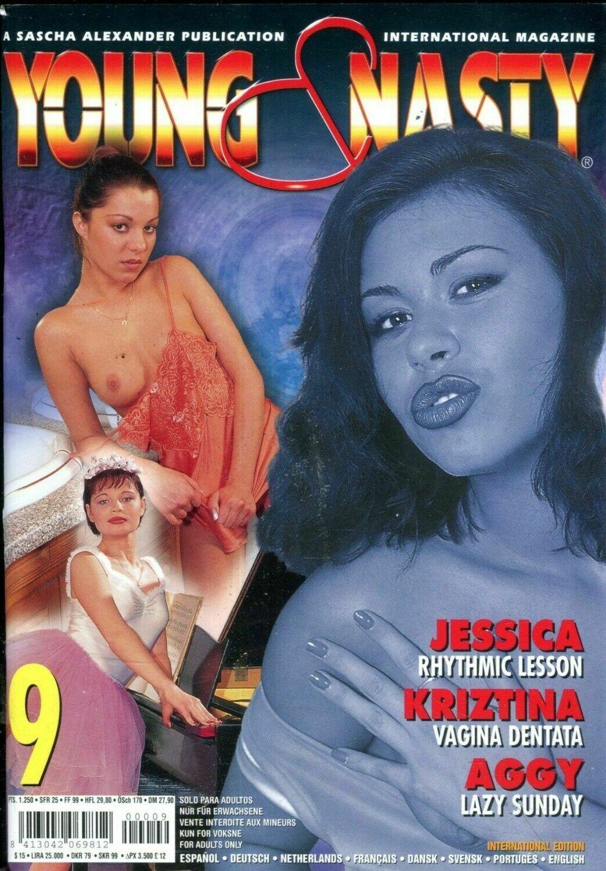 YOUNG & NASTY #9 ADULT PORNO MAGAZINE SARAH YOUNG 1998