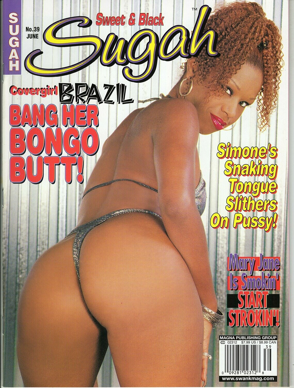 SUGAH BLACK MAGAZINE #39 JUNE 2001 COVERGIRL BRAZIL