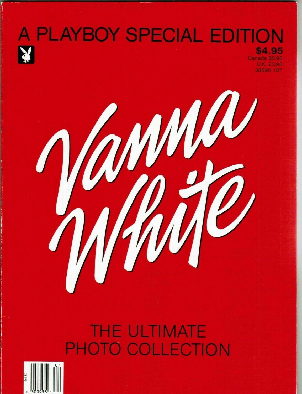 "PLAYBOY SPECIAL EDITION ""VANNA WHITE"" The Ultimate Photo Collection 1987"