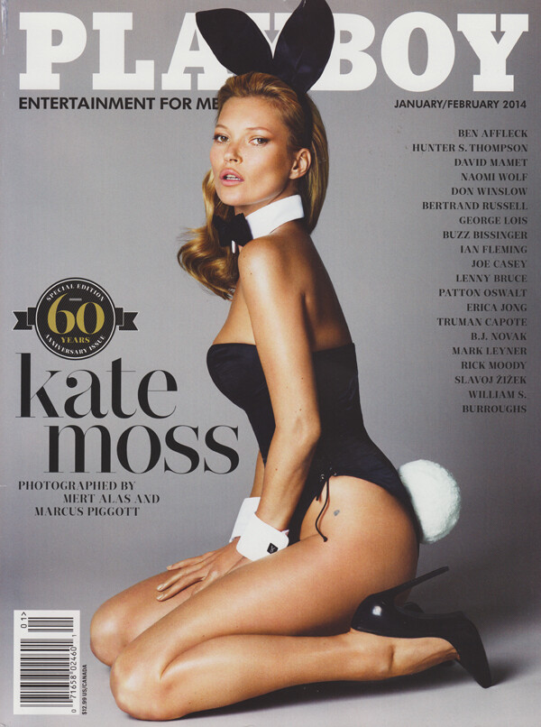 Playboy Magazine Jan/Feb 2014 Kate Moss