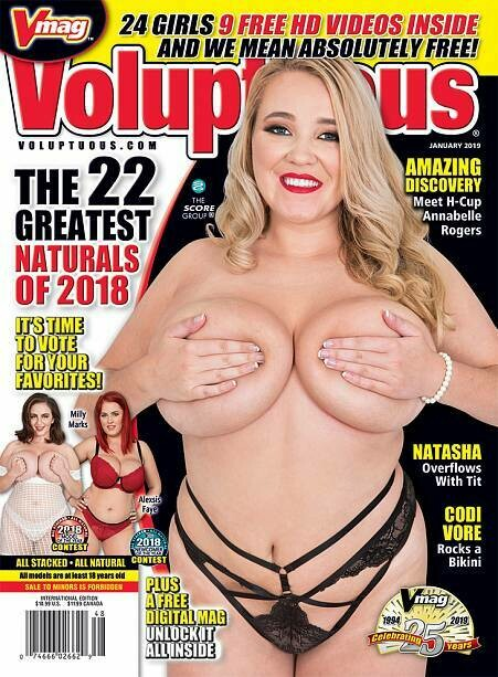 VOLUPTUOUS JANUARY 2019 MAGAZINE H-Cup Annabelle Rogers