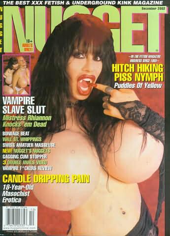 NUGGET DECEMBER 2002 RHIANNON VAMPIRE SLAVE SLUT
