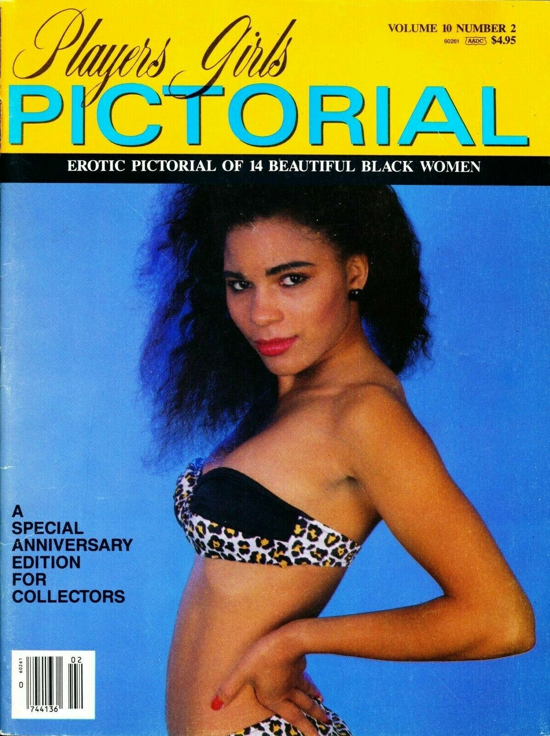 Players Girls Pictorial Vol 10 No 2;  Adult Magazine. Black Women 1989