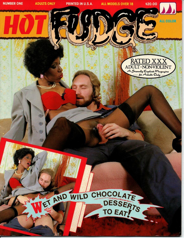 Hot Fudge #1 Interracial Mag 70/80's Hardcore All Color