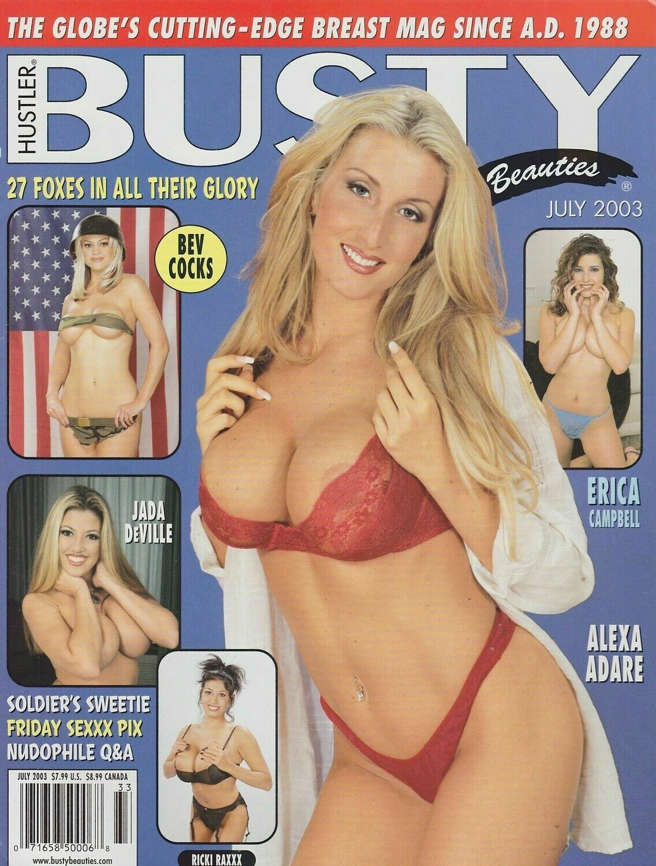 Hustler Busty Beauties Adult Magazine July 2003
