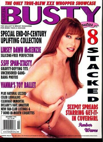Hustler Busty Beauties Adult Magazine Dec 1999 Amber Waves