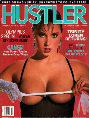 Vintage Hustler Magazine October 1988 Trinity Loren