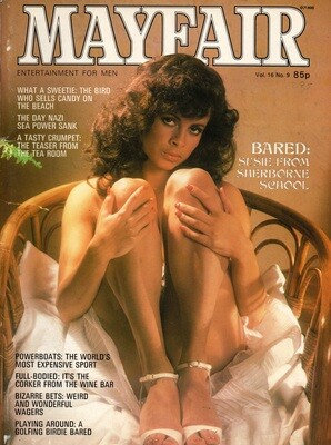 Vintage MAYFAIR Vol16 No9 ADULT MAGAZINE 1981
