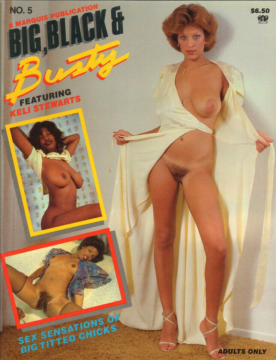 BIG BLACK & BUSTY #5 - KELI STEWART - 1980s magazine