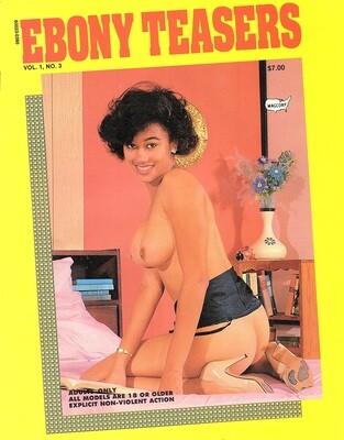 Vintage Ebony Teasers  V1N3 1990 Adult Magazine