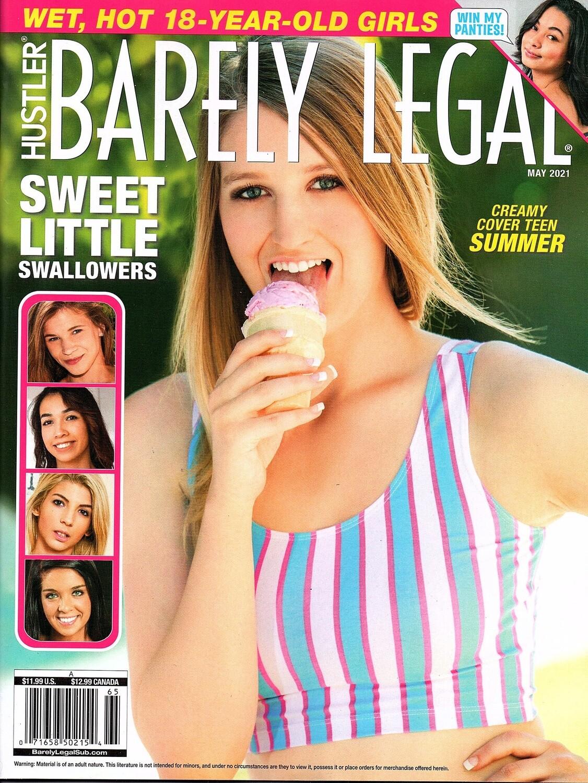 Hustler Barely Legal May 2021 Magazine