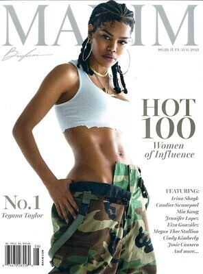 MAXIM MAGAZINE Current Issue JULY/AUGUST 2021 TEYANA TAYLOR- inmate Magazines