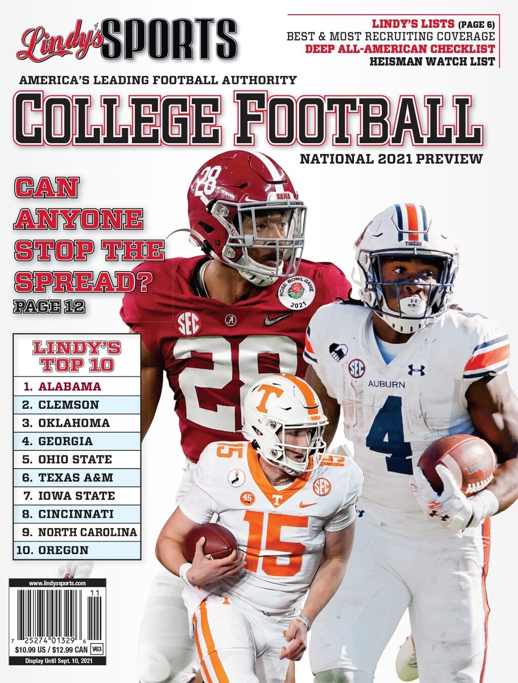 Lindy's 2021 National College Football Preview Magazine