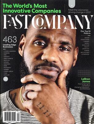 Fast Company Magazine (March/April, 2021) LeBron James