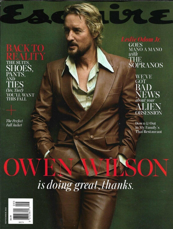 Esquire Magazine September 2021 Issue Owen Wilson