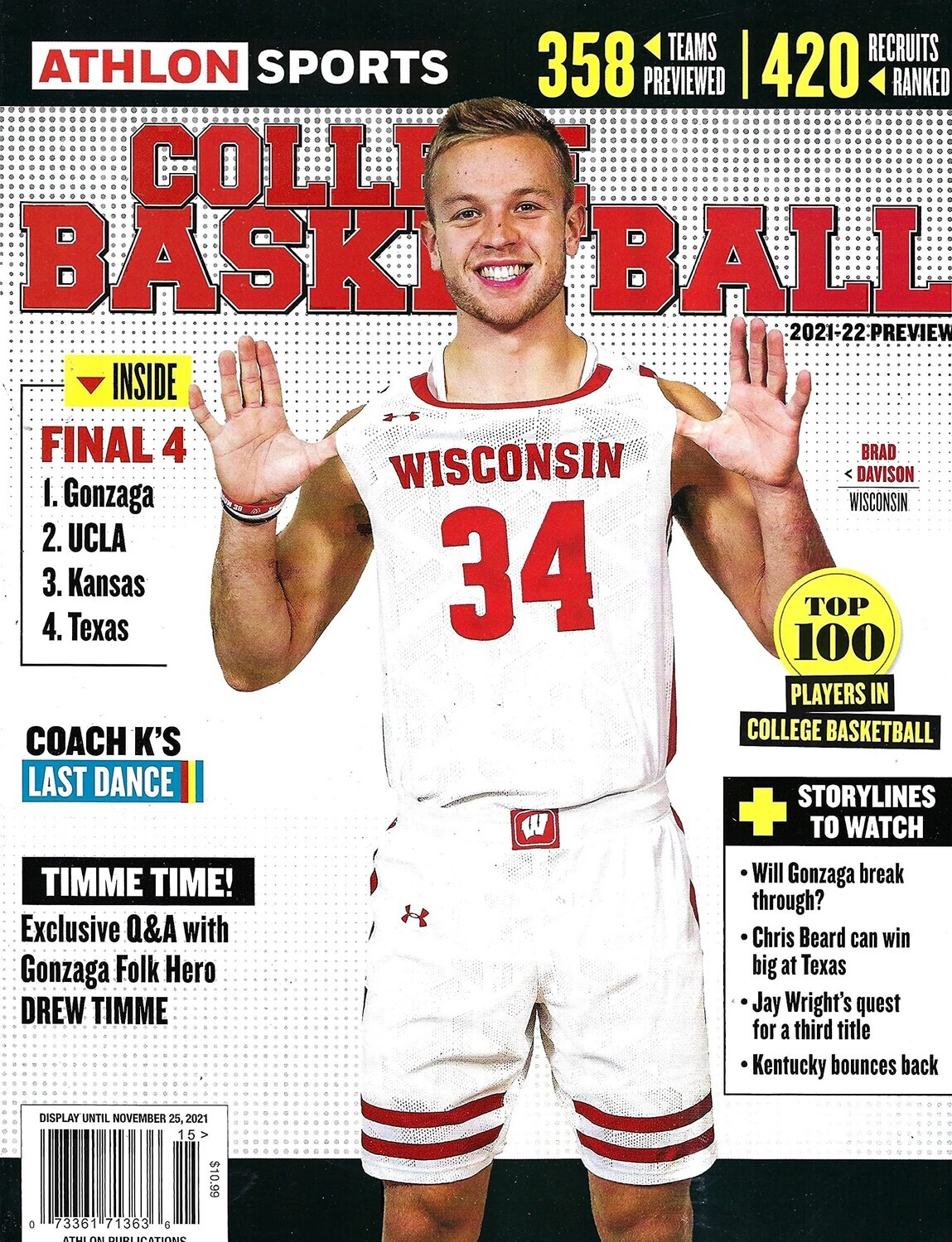 Athlon Sports College Basketball 2021-22 Preview