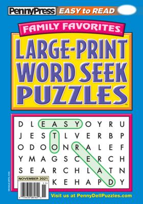 Large Print Family Favorites Word Seek
