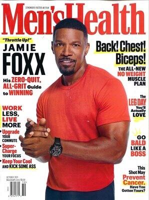 Men's Health Magazine October 2021 - Jamie Foxx - inmate Magazines