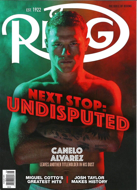 The Ring Magazine (August, 2021) Canelo Alvarez Cover