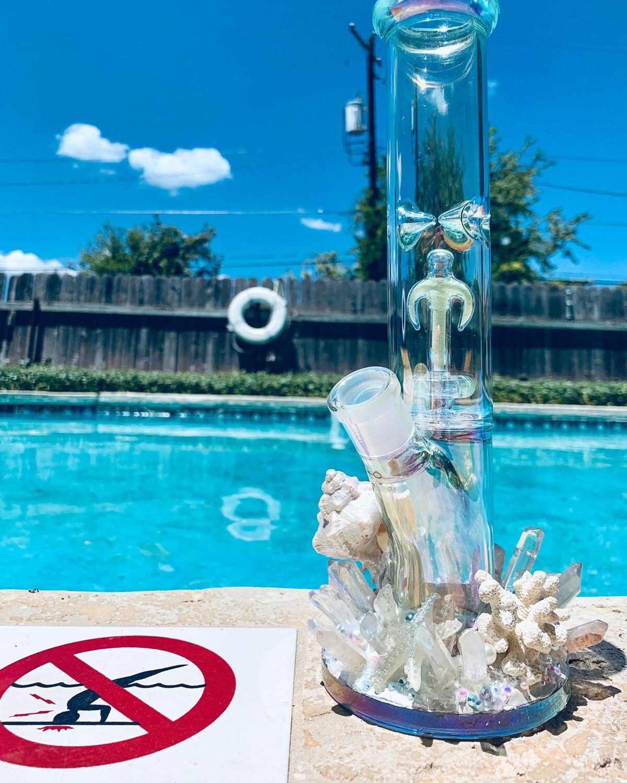 """Miranda"" Mermaid Water Pipe Art"