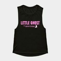 Little Ghost Ultra Soft Premium Tank w/Pink Leaf