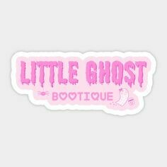 Little Ghost Bootique Vinyl Sticker