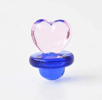 "Custom ""Stoned"" Heart Carb Cap 2mm"
