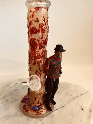 Nightmare On Elm Street Water Pipe Art